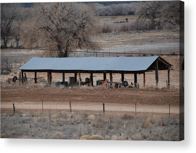 Architecture Acrylic Print featuring the photograph Tractor Port On The Ranch by Rob Hans