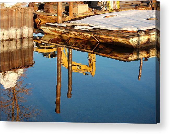 Photography Acrylic Print featuring the photograph Tractor Reflections by Heather S Huston