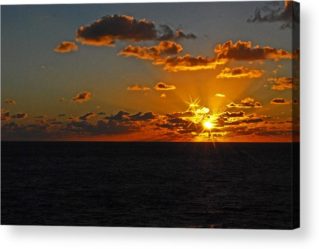 Sunset Acrylic Print featuring the photograph Tropical Sunset by Gary Wonning