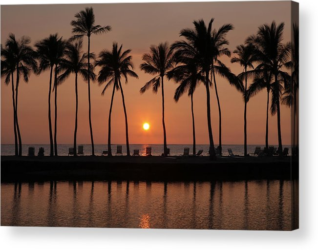 Hawaii Acrylic Print featuring the photograph Tropical Sunset Silhouettes by Dan Peak
