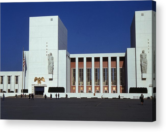 United States Acrylic Print featuring the photograph United States Pavilion Lc by David Halperin