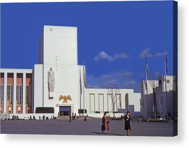 United States Acrylic Print featuring the photograph United States Pavilion R by David Halperin