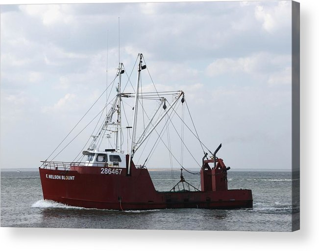 Commercial Fishing Boats Acrylic Print featuring the photograph Vessel 59 by Joyce StJames