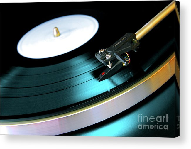 Abstract Acrylic Print featuring the photograph Vinyl Record by Carlos Caetano