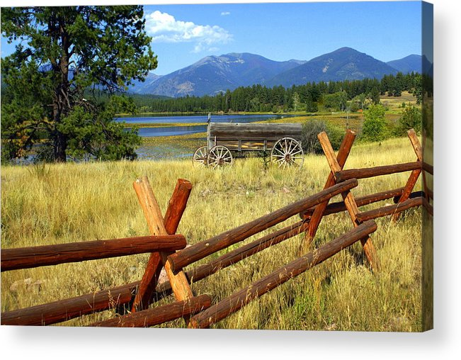 Landscape Acrylic Print featuring the photograph Wagon West by Marty Koch