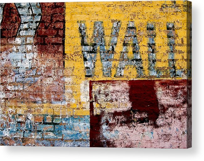 Brick Wall Acrylic Print featuring the photograph Wall by Curtis Staiger