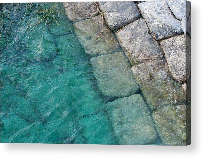 Water Blocks Bricks Acrylic Print featuring the photograph Water Blocks by Rob Hans