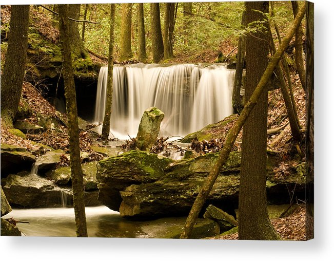 Waterfall Acrylic Print featuring the photograph Waterfall At The Ruins by Douglas Barnett