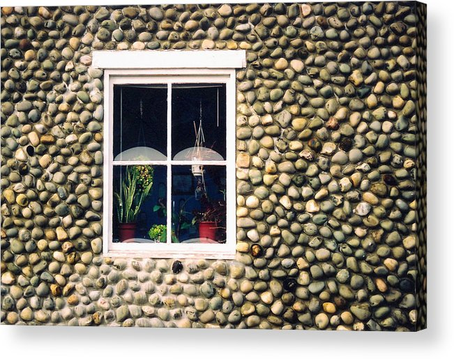 Architecture Acrylic Print featuring the photograph Window In Nova Scotia by Robert Gladwin