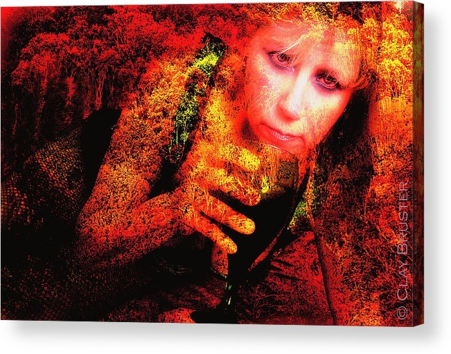 Clay Acrylic Print featuring the photograph Wine Woman And Fall Colors by Clayton Bruster