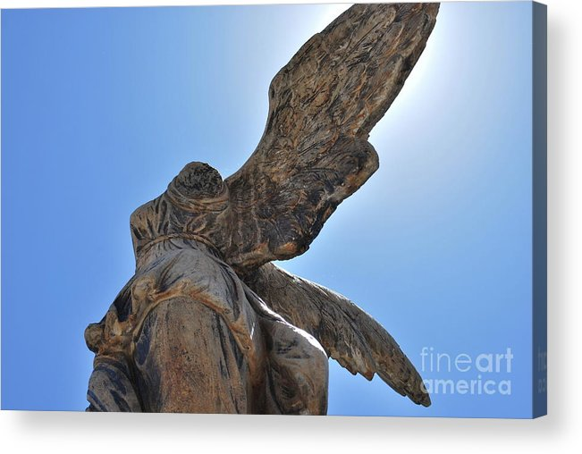 Statue Acrylic Print featuring the photograph Wings by Lori Leigh