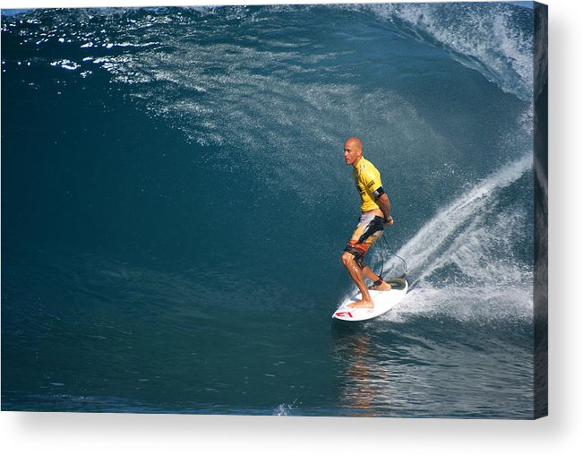 Kelly Slater Acrylic Print featuring the photograph World Champion X11 by Kevin Smith
