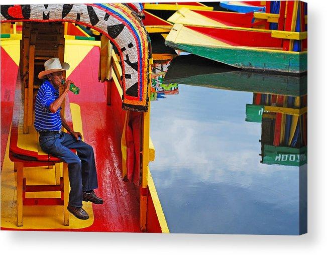 Skip Hunt Acrylic Print featuring the photograph Xochimilco by Skip Hunt
