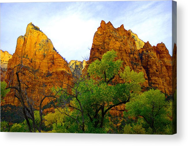 Utah Acrylic Print featuring the photograph Zion In Autumn by Dennis Hammer
