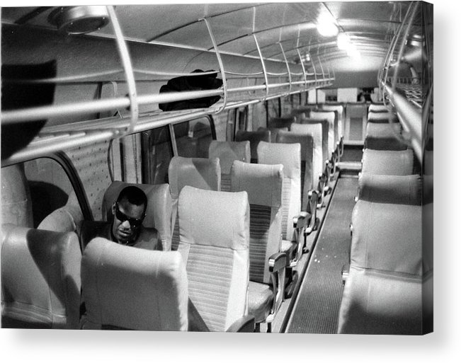 Usa Acrylic Print featuring the photograph Ray Charles On His Tour Bus by Bill Ray