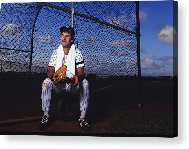 1980-1989 Acrylic Print featuring the photograph New York Yankees 12 by Ronald C. Modra/sports Imagery