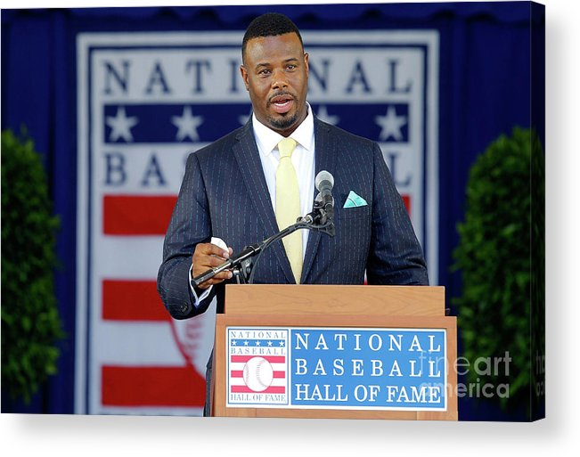 People Acrylic Print featuring the photograph 2016 Baseball Hall Of Fame Induction 2016 by Jim Mcisaac