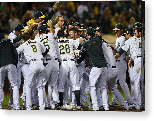 American League Baseball Acrylic Print featuring the photograph Detroit Tigers V Oakland Athletics 5 by Thearon W. Henderson