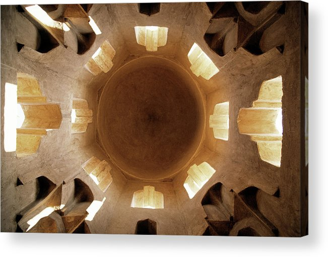 Ceiling Acrylic Print featuring the photograph Fatamid Tombs, Old Muslim Cemetery by James Morris