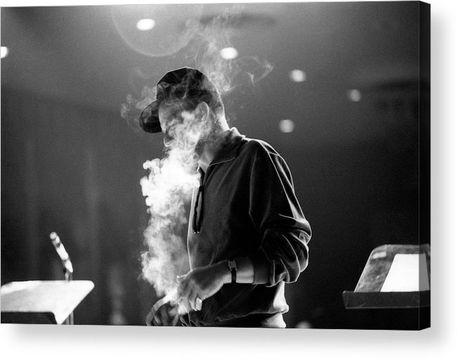Singer Acrylic Print featuring the photograph Frank Sinatra During Rehearsals by John Dominis