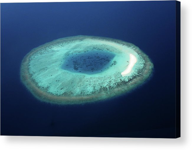 Scenics Acrylic Print featuring the photograph Maldives Coral Islands by Mohamed Abdulla Shafeeg