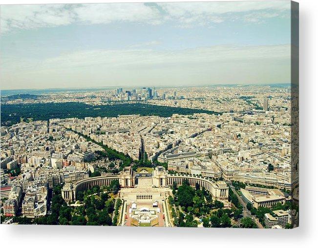Outdoors Acrylic Print featuring the photograph Paris, Je Taime by Alicja Zak