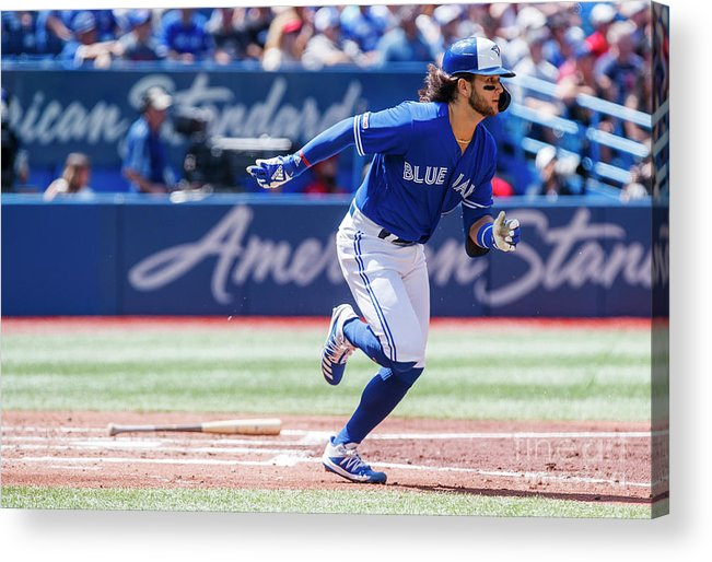 People Acrylic Print featuring the photograph Seattle Mariners V Toronto Blue Jays by Mark Blinch