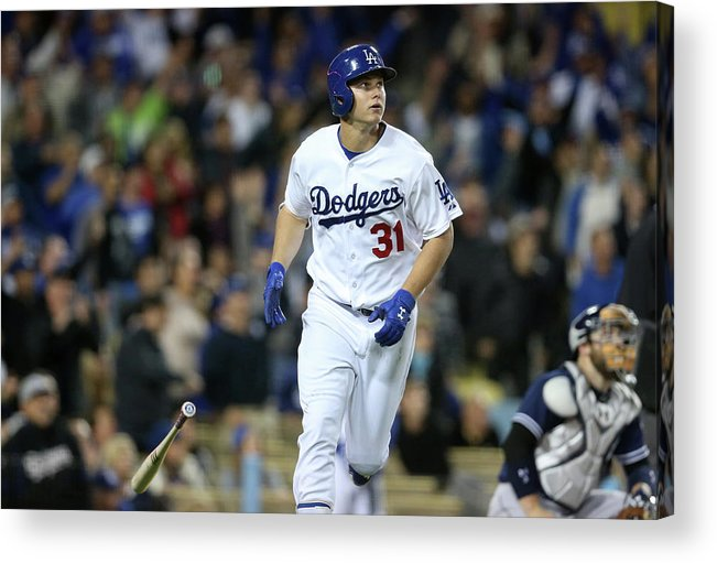 People Acrylic Print featuring the photograph Joc Pederson by Stephen Dunn