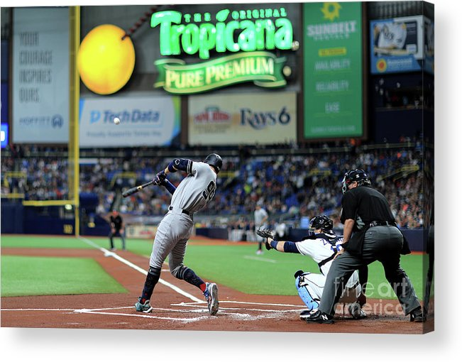 People Acrylic Print featuring the photograph Aaron Judge by Mike Ehrmann