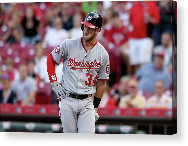 Great American Ball Park Acrylic Print featuring the photograph Bryce Harper by Andy Lyons