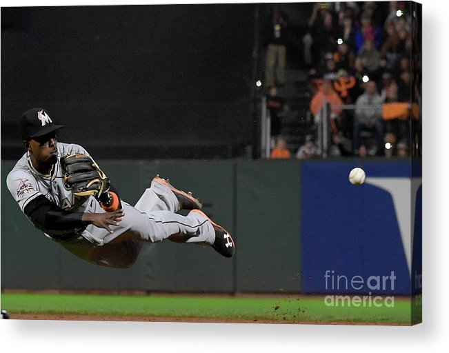San Francisco Acrylic Print featuring the photograph Dee Gordon And Brandon Crawford by Thearon W. Henderson