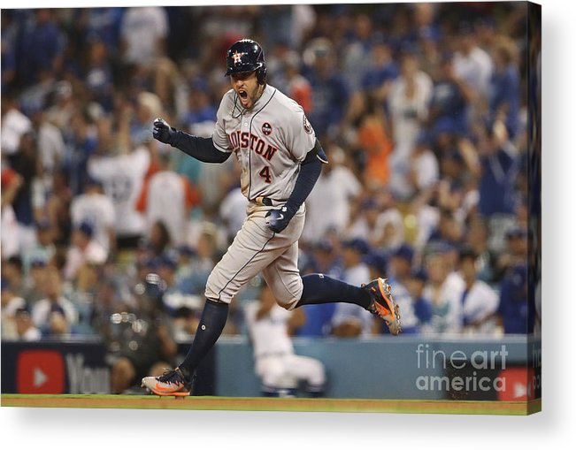 Game Two Acrylic Print featuring the photograph George Springer by Christian Petersen