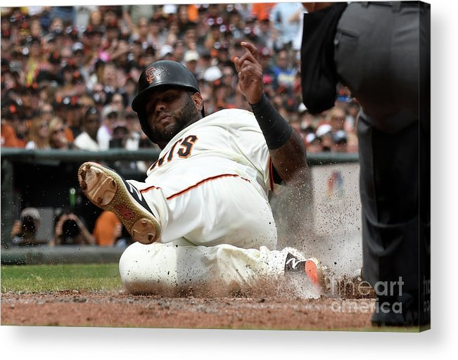 San Francisco Acrylic Print featuring the photograph Pablo Sandoval by Thearon W. Henderson
