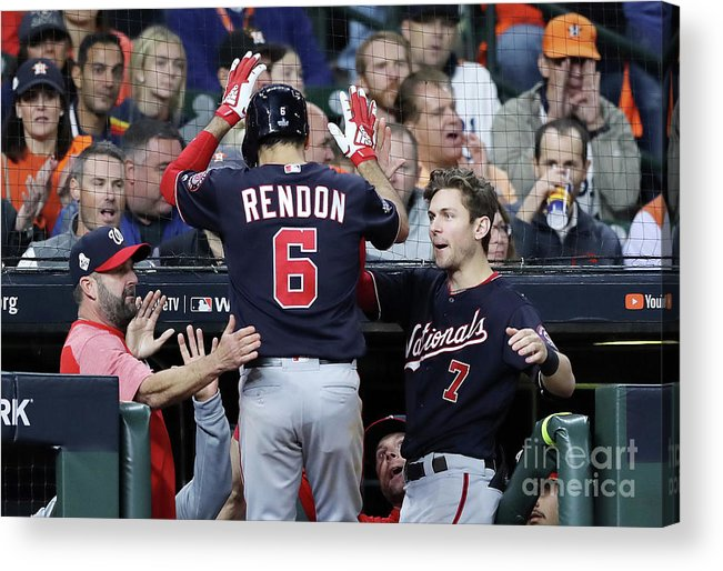 People Acrylic Print featuring the photograph Trea Turner And Anthony Rendon by Elsa