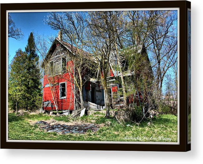 Buildings Acrylic Print featuring the photograph Fixer Upper by Michaela Preston