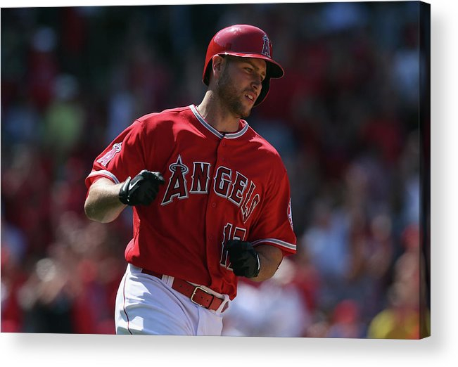 Fist Acrylic Print featuring the photograph Kansas City Royals V Los Angeles Angels 1 by Jeff Gross
