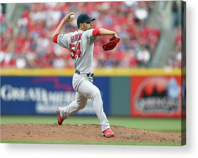 Great American Ball Park Acrylic Print featuring the photograph St Louis Cardinals V Cincinnati Reds 1 by Andy Lyons