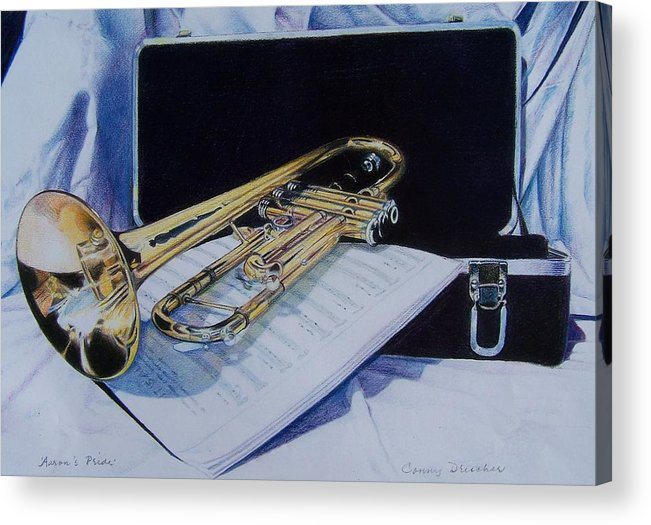 Instrument Acrylic Print featuring the mixed media Aaron's Pride by Constance Drescher