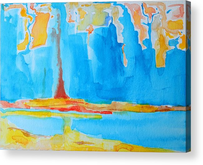 Abstract Watercolor Acrylic Print featuring the painting Abstract II by Patricia Awapara
