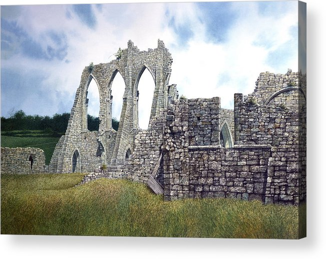Landscape Acrylic Print featuring the painting Arches Of Bayham Abbey by Tom Wooldridge