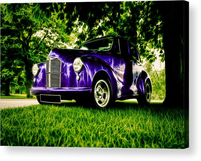 British Hot Rod Acrylic Print featuring the photograph Austin Hot Rod by motography aka Phil Clark