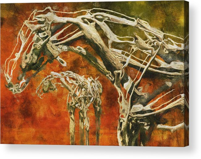 Digital Acrylic Print featuring the painting Aware by Jack Zulli