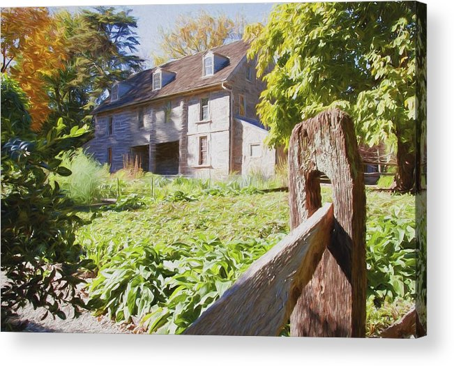 Bartrams Garden Acrylic Print featuring the photograph Bartrams Fence by Alice Gipson