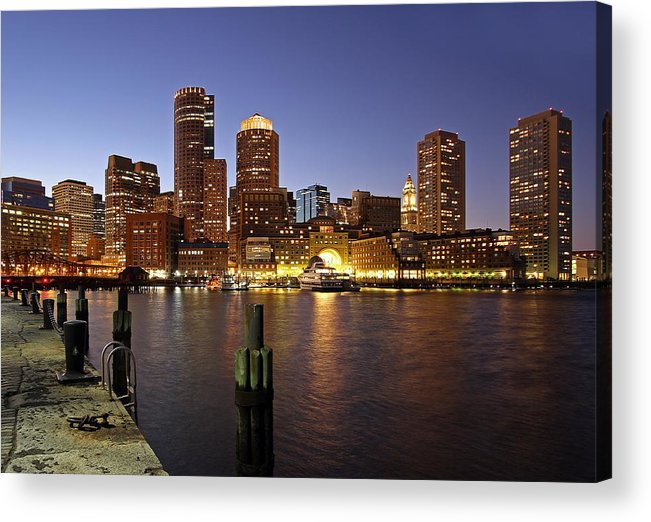 Boston Acrylic Print featuring the photograph Boston Skyline And Fan Pier by Juergen Roth