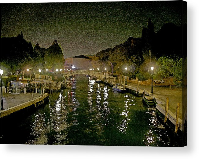 Venice Acrylic Print featuring the photograph Bridge In The Distance by Guy Ciarcia