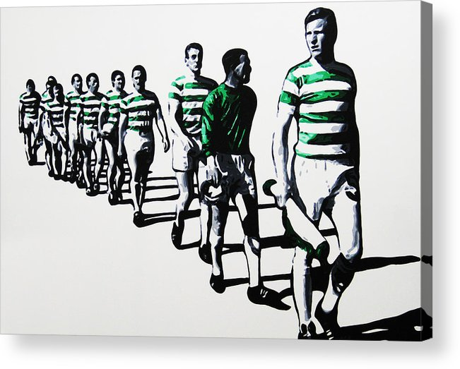 Celtic Acrylic Print featuring the painting Celtic Fc by Geo Thomson
