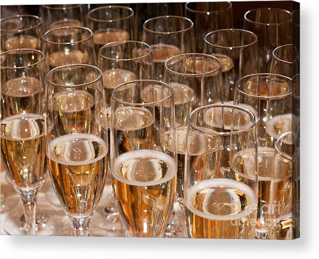 Champagne Acrylic Print featuring the photograph Champagne 02 by Rick Piper Photography