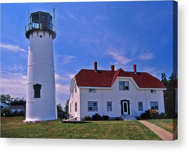 Lighthouses Acrylic Print featuring the photograph Chatham Light by Skip Willits