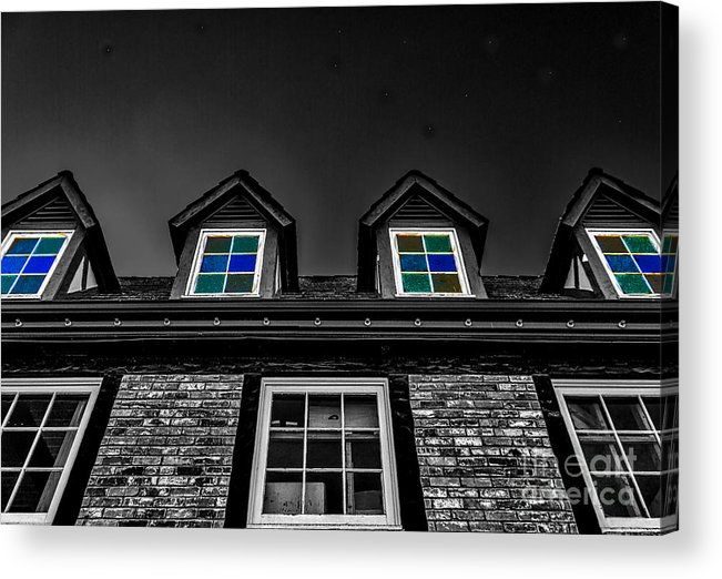 Colored Windows Acrylic Print featuring the photograph Colored Windows by Mitch Shindelbower