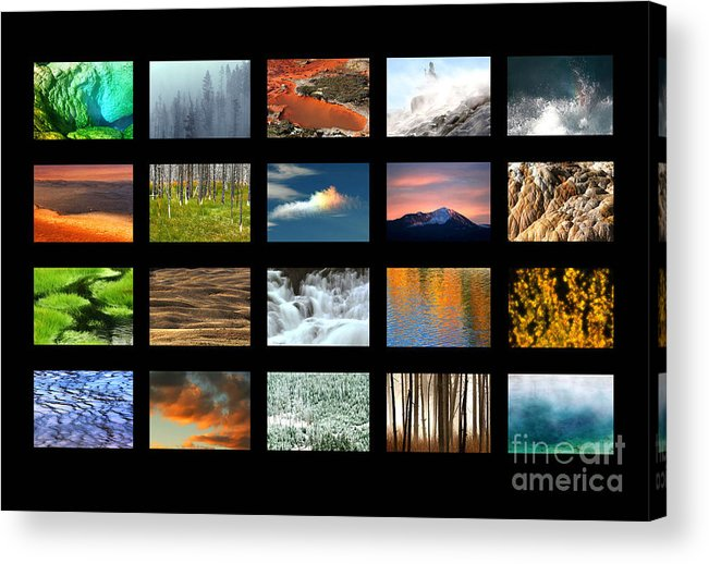 Yellowstone Acrylic Print featuring the photograph Colors Of Yellowstone by Clare VanderVeen